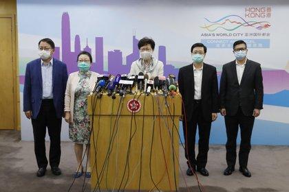 03/06/2020 Carrie Lam en rueda de prensa en Pekín POLITICA INTERNACIONAL -/TPG via ZUMA Press/dpa