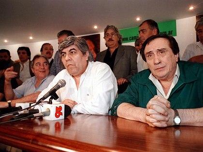 Juan Manuel Palacios, Hugo Moyano y Saúl Ubaldini