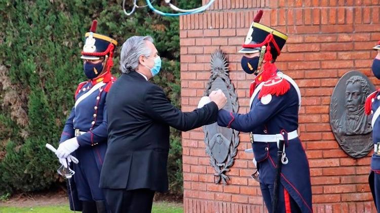 El Regimiento de Granaderos es uno de los pilares en los que se apoya la seguridad presidencial