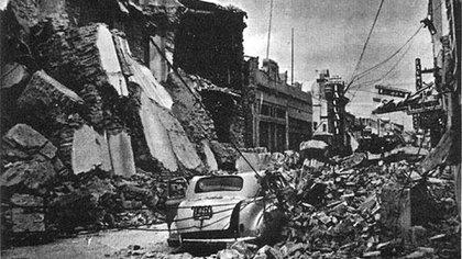 Imagen del terremoto de San Juan ocurrido en 1944