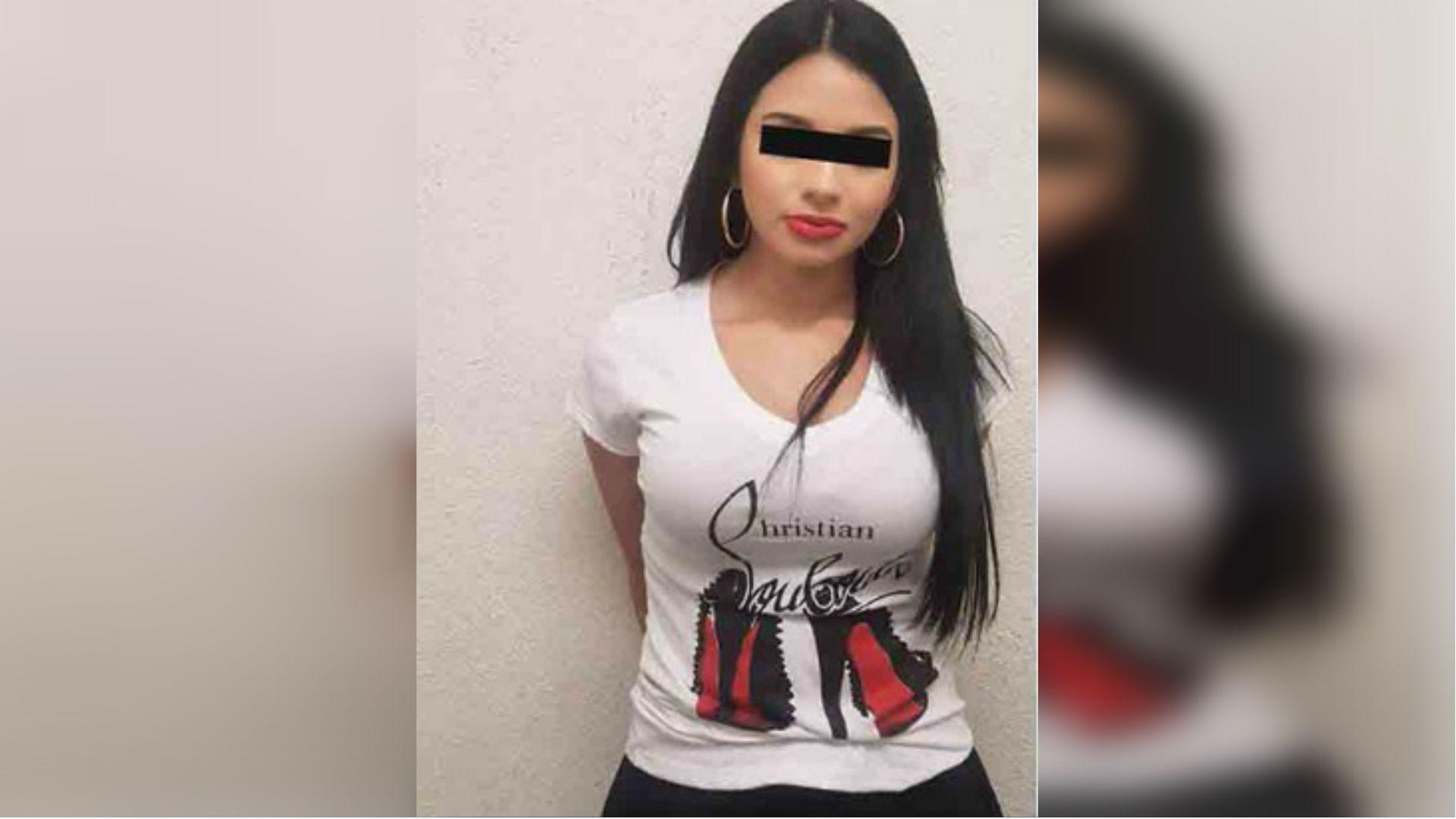 La joven de la Línea detenida en 2017 que es el estereotipo de las mujeres reclutadas por el grupo criminal (Foto: especial)