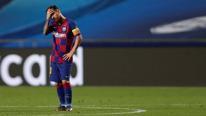 Lionel Messi y su futuro en Barcelona es una incógnita (Manu Fernandez/Pool via REUTERS)