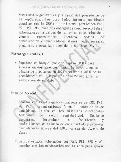 El documento atribuido al BOA fue presentado el pasado martes durante la conferencia de prensa matutina (Foto: Cortesía Presidencia)