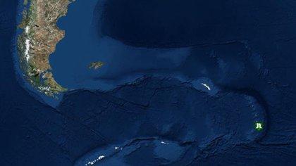 La ubicación de las Islas Georgias del Sur (USGS)