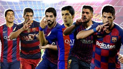 Las seis temporadas de Luis Suárez con el Barcelona que lo hicieron quedar en la historia (Foto: Infobae / Emanuel Gómez)