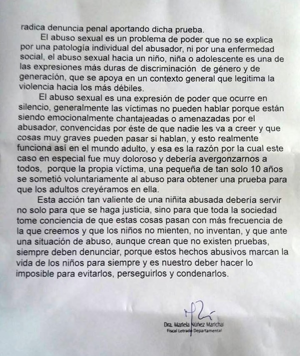 Mariela Núñez detalló lo ocurrido