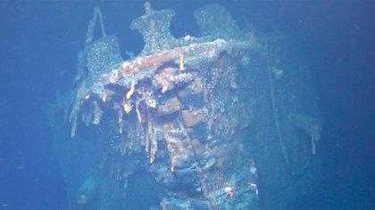 El buque tenía una tripulación de 840 hombres cuando fue hundido (Cortesía del Falklands Maritime Heritage Trust)