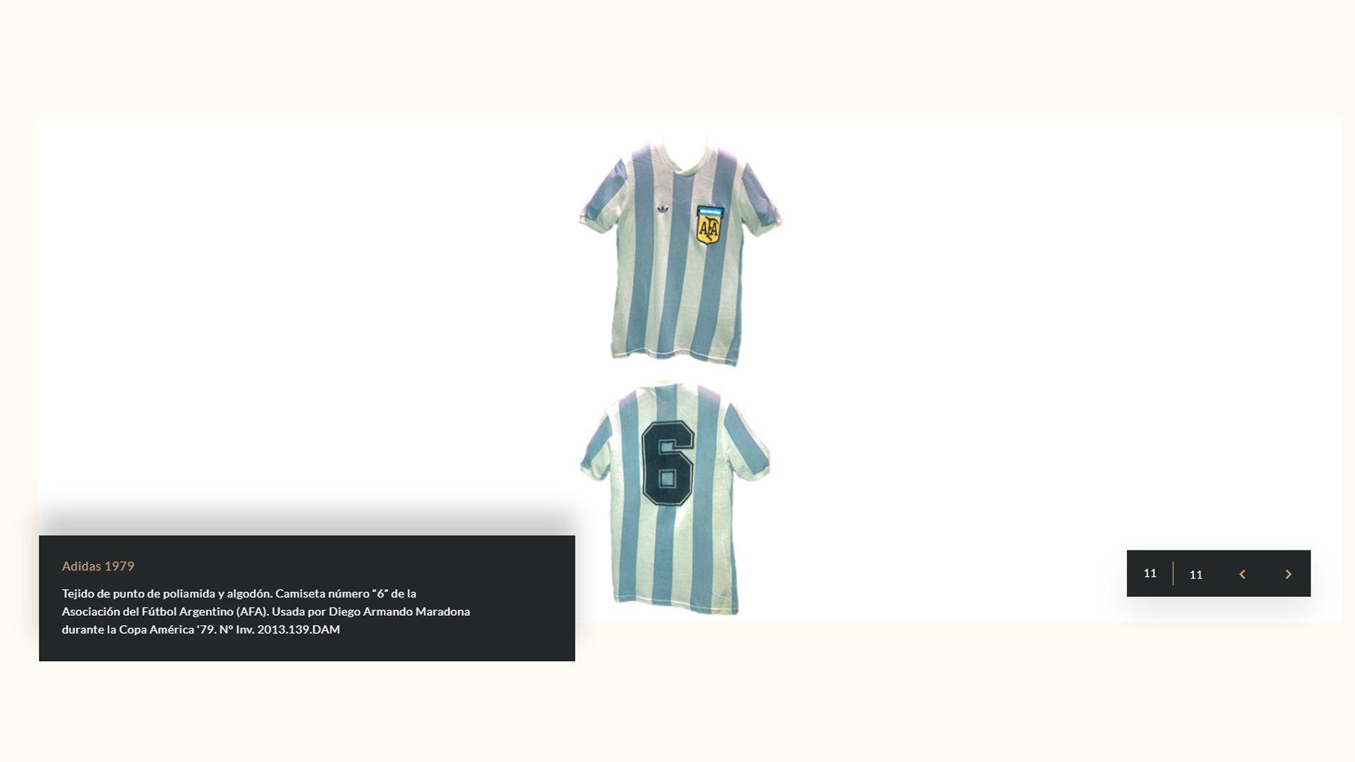 Camisetas Maradona Museo de la Moda de Chile