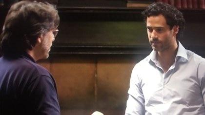 Keith Raniere y Emiliano Salinas (Foto: The Vow, HBO/Captura de pantalla)
