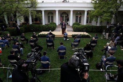 El presidente Donald Trump durante la conferencia de prensa del martes en la Casa Blanca (Reuters/ Leah Millis)