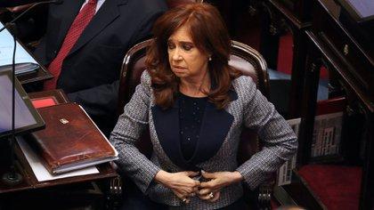 Cristina Kirchner en el Senado (foto de archivo)