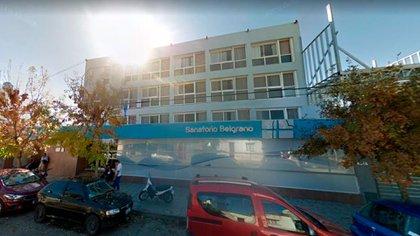 El Sanatorio Belgrano, de donde se escapó la mujer.