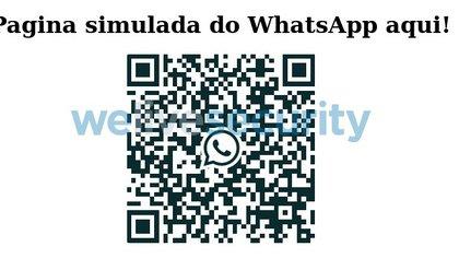 Un sitio falso que busca imitar la página de inicio de WhatsApp web.