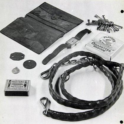Los objetos encontrados junto al cuerpo de Martin