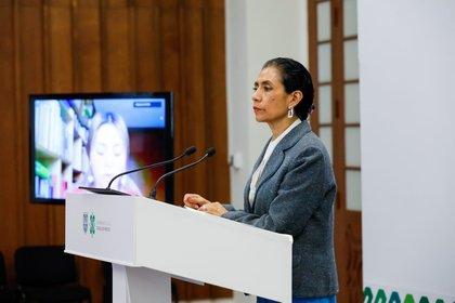Oliva López, secretaria de Salud de la Ciudad de México  (Foto: Twitter@OlivaLopezA)