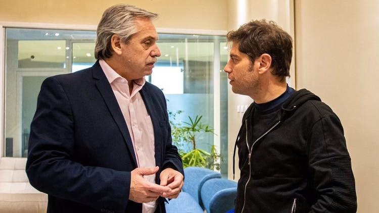 Alberto Fernández con Axel Kicillof, precandidato a gobernador bonaerense