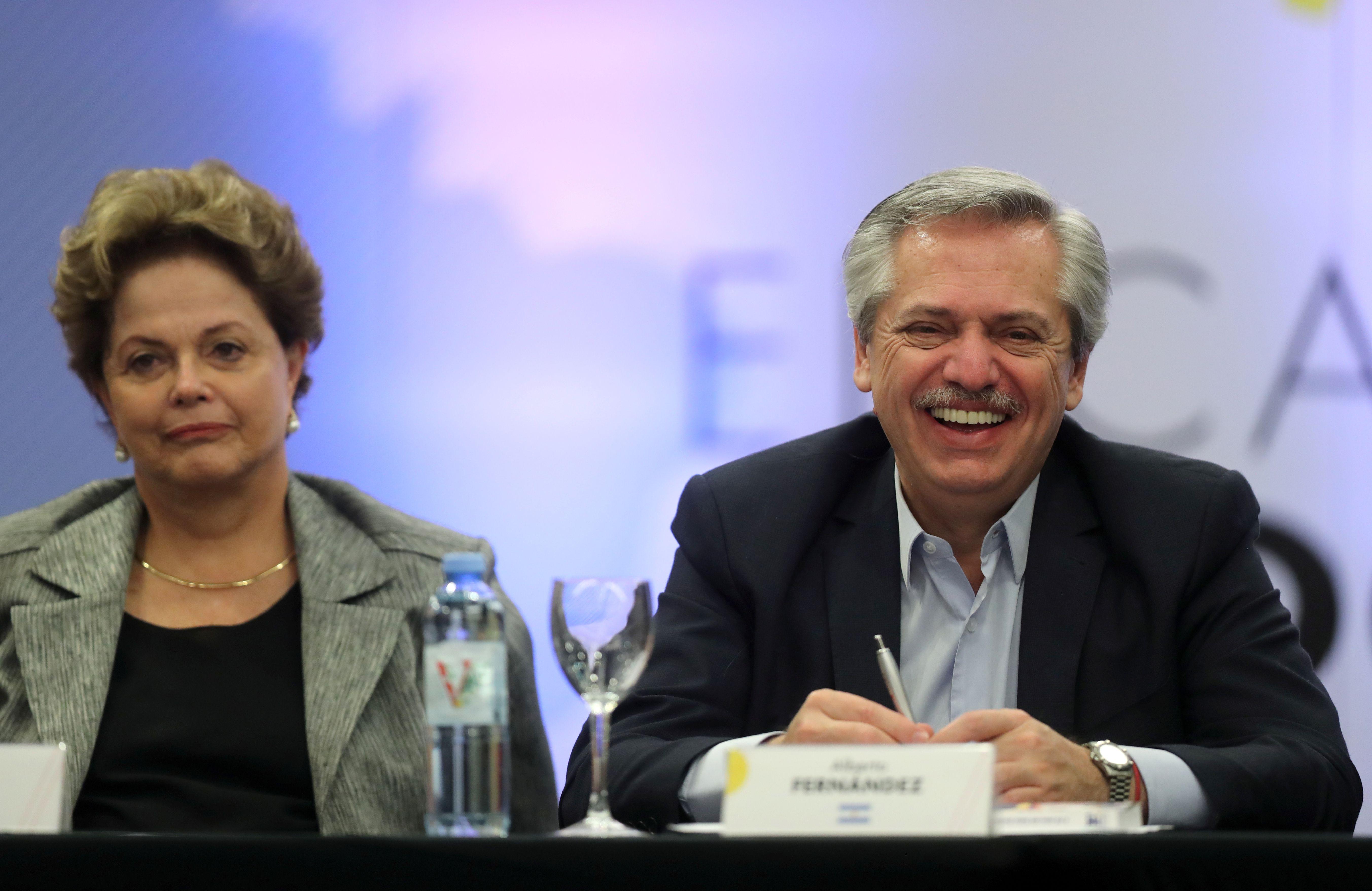 La liberación de Lula Da Silva en Brasil mostró a un Alberto Fernández muy distendido. (REUTERS/Agustin Marcarian)
