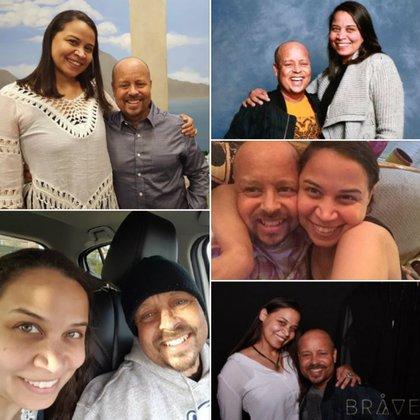 Las imágenes que publicó su viuda en Facebook