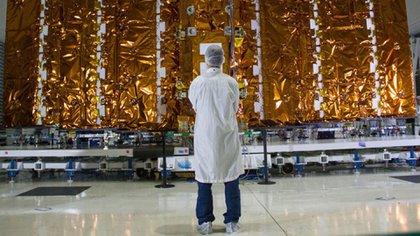 El satélite Saocom posee una tecnología única para observaciones terrestres a partir de su lectura radar (CONAE)
