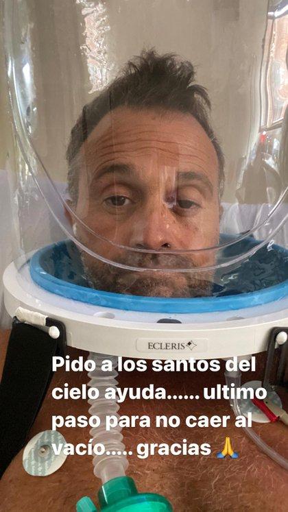La foto que Sergio Lapegüe con el casco puesto (Instagram)