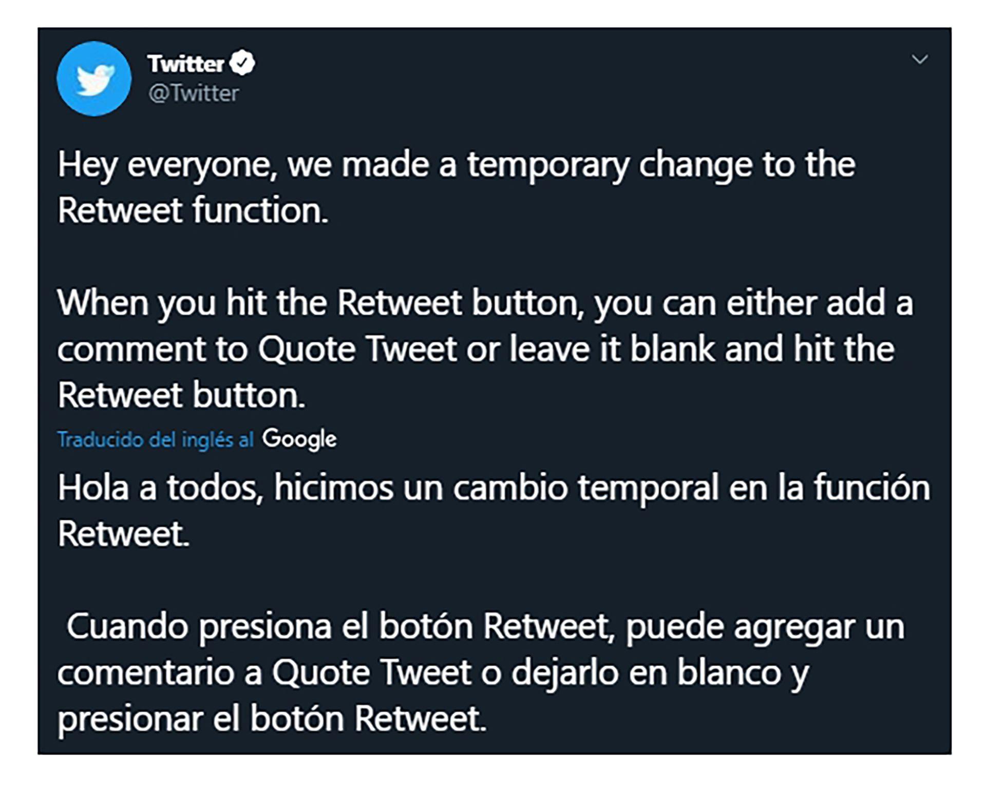 tuits actualizacion twitter