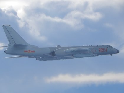 A Chinese H-6 bomber on a voyage near the Taiwan Strait (Reuters / File)