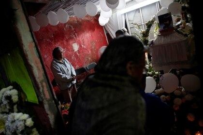 El velorio de la pequeña Fátima Cecilia se llevó a cabo el lunes 17 de febrero Foto: REUTERS/Carlos Jasso