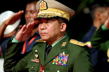 Gen. Min Aung Hlong, commander of the US-backed military, leads a military uprising in Myanmar (Zuma Press)