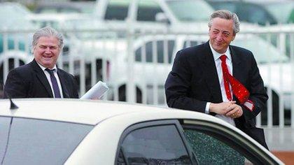 Néstor Kirchner junto a su secretario Daniel Muñoz, el encargado de recibir las coimas