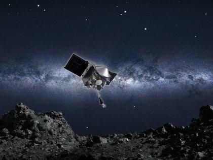 Osiris-Rex usó un modelo de asteroide (NASA) usando un brazo robótico