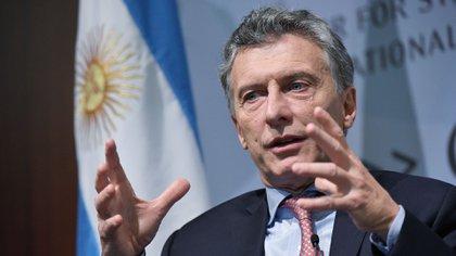 Mauricio Macri durante su exposición en el influyente think tank CSIS en Washington el pasado abril