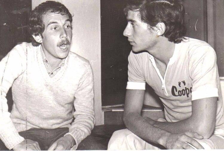 Senna con García Lobelos, periodista de Corsa, el día de la inauguración de su pista de karting en San Pablo, en 1991. (Archivo Marcelo García Lobelos)