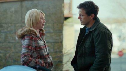 Michelle Williams y Casey Affleck en una escena del film Manchester frente al mar