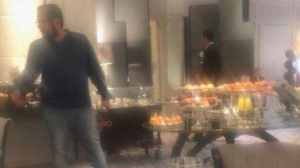 Juan Ramón López Beltrán, el hijo mayor del presidente electo de México, fue captado en el lujoso hotel Villa Magna, de Madrid (Foto: Especial)
