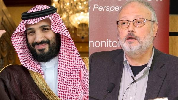 Mohammed Bin Salman y Jamal Khashoggi