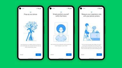 Google medirá el ritmo cardíaco y la respiración a través de sus smartphones