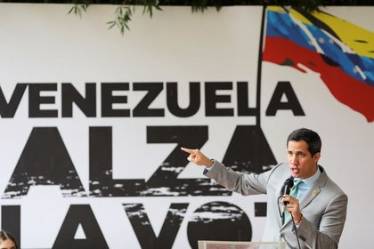 Juan Guaidó en un acto en Caracas (REUTERS/Manaure Quintero/Archivo)