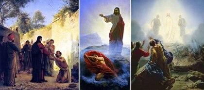 Diferentes obras sobre la vida de Jesús, de Bloch