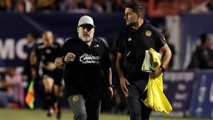 Diego Armando Maradona dirigió a los Dorados de Sinaloa entre 2018 y 2019 (Foto: Henry Romero/ Reuters)