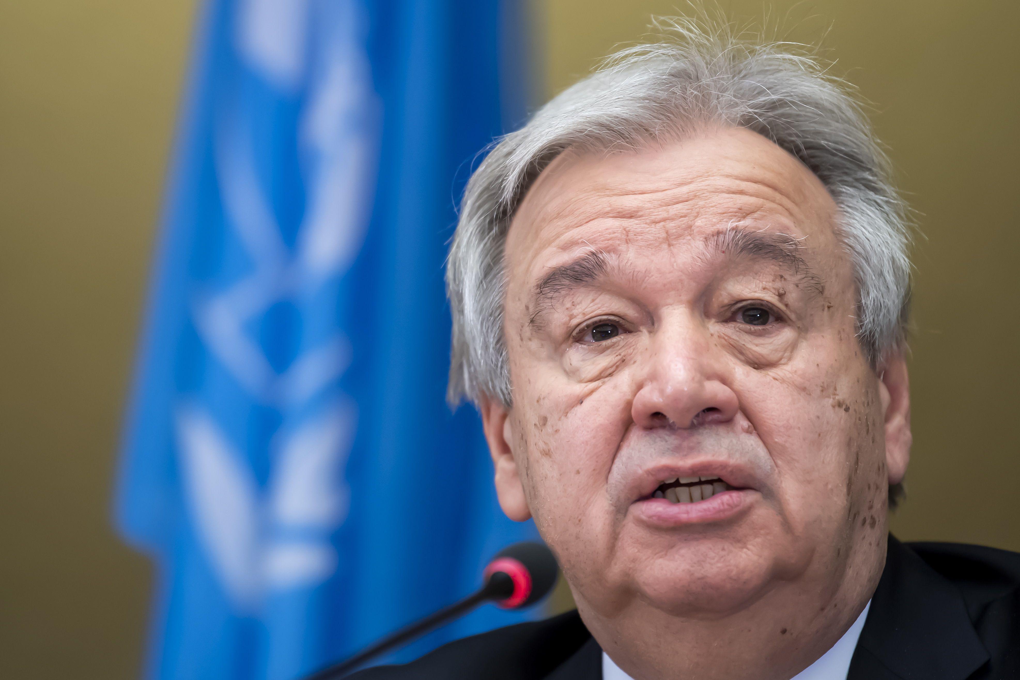 En la imagen, el secretario general de la ONU, António Guterres. EFE/Martial Trezzini/Archivo