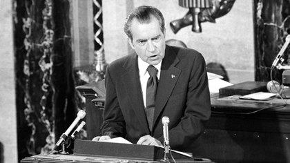 Richard Nixon fue indultado por su predecesor, Gerald Ford (Glasshouse Images/Shutterstock)