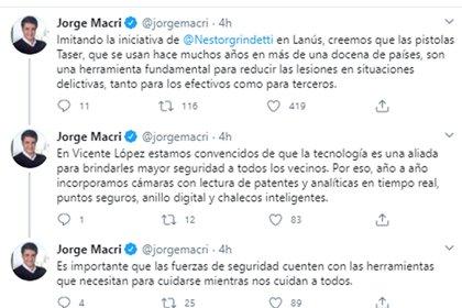 Captura del tuit de Jorge Macri