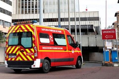 El Hospital Bichat de París, Francia, donde se trató al turista chino desde el 25 de enero hasta su muerte, el 15 de febrero. Fue la primera víctima mortal en Europa (Reuters)