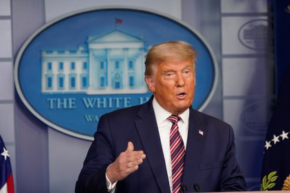 El presidente de Estados Unidos, Donald J. Trump, pidió un recuento de votos en Wisconsin tras denunciar fraude (EFE/EPA/Chris Kleponis)