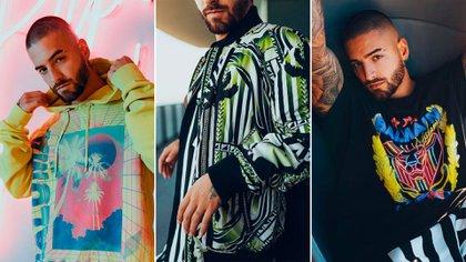 En las prendas se mezcla la estética del artista colombiano con la del director creativo de la marca francesa, Olivier Rousteing.