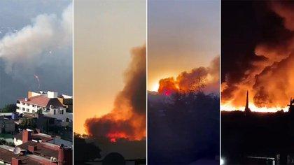 Edomex en llamas: las impactantes imágenes de los incendios en Huixquilucan y Chalco