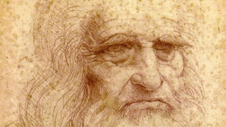 Leonardo, ya viejo y enfermo, pintó su autorretrato