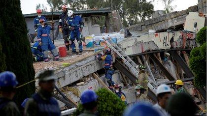 Las tareas de rescate en México