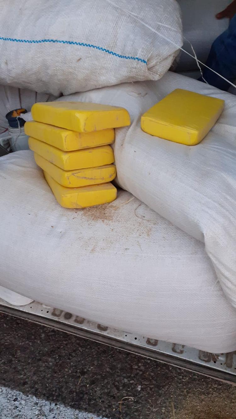 Parte de la carga incautada en Uruguay (foto: Ministerio del Interior)