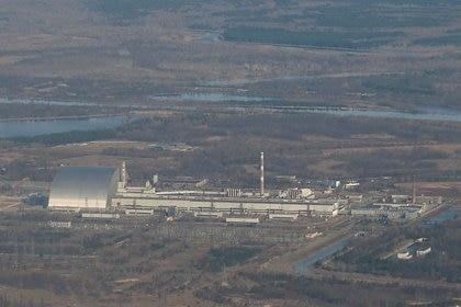 Una vista della centrale nucleare di Chernobyl durante un tour della regione, Ucraina, 23 aprile 2021. Reuters / Gleb Jaranesh